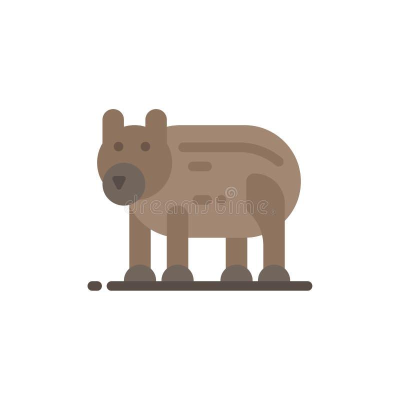 Το ζώο, αντέχει, πολικός, επίπεδο εικονίδιο χρώματος του Καναδά Διανυσματικό πρότυπο εμβλημάτων εικονιδίων διανυσματική απεικόνιση