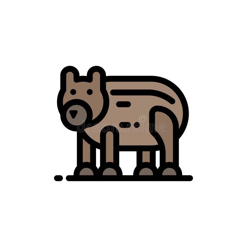 Το ζώο, αντέχει, πολικός, επίπεδο εικονίδιο χρώματος του Καναδά Διανυσματικό πρότυπο εμβλημάτων εικονιδίων απεικόνιση αποθεμάτων