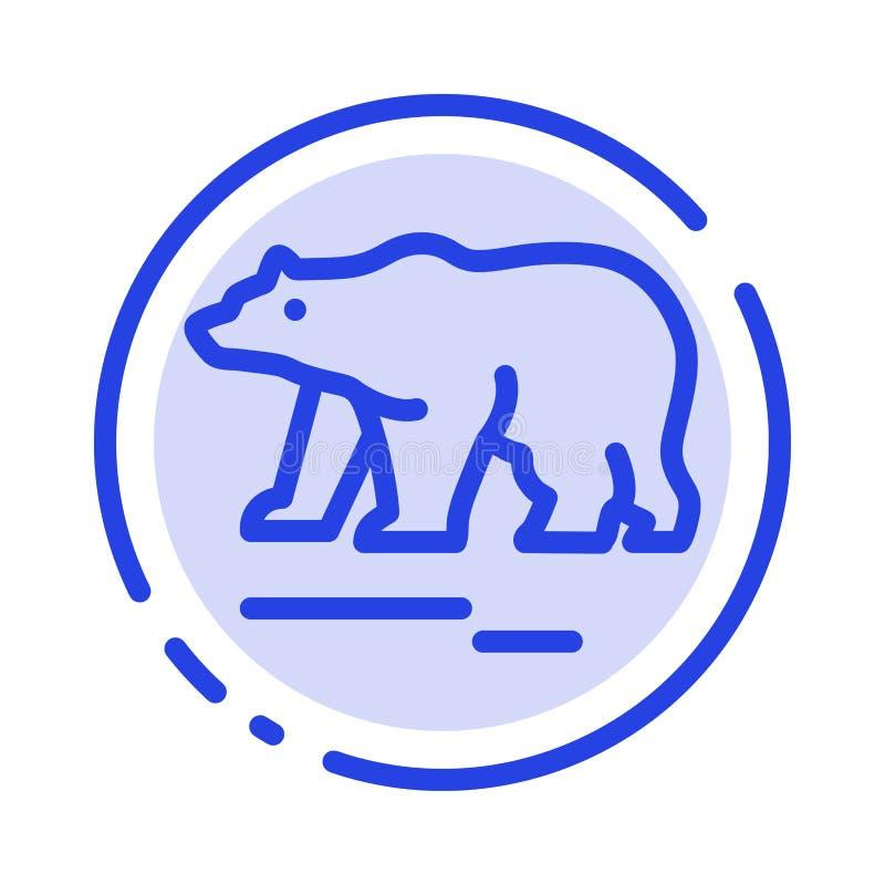 Το ζώο, αντέχει, πολικός, μπλε εικονίδιο γραμμών διαστιγμένων γραμμών του Καναδά ελεύθερη απεικόνιση δικαιώματος