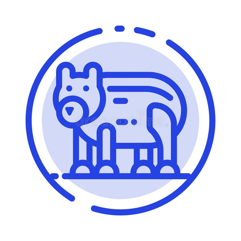 Το ζώο, αντέχει, πολικός, μπλε εικονίδιο γραμμών διαστιγμένων γραμμών του Καναδά απεικόνιση αποθεμάτων