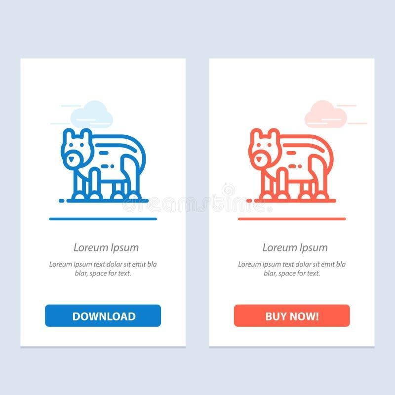 Το ζώο, αντέχει, πολικός, ο Καναδάς μπλε και το κόκκινο μεταφορτώνουν και αγοράζουν τώρα το πρότυπο καρτών Widget Ιστού ελεύθερη απεικόνιση δικαιώματος