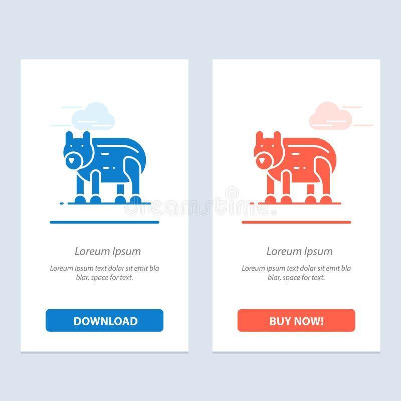 Το ζώο, αντέχει, πολικός, ο Καναδάς μπλε και το κόκκινο μεταφορτώνουν και αγοράζουν τώρα το πρότυπο καρτών Widget Ιστού απεικόνιση αποθεμάτων
