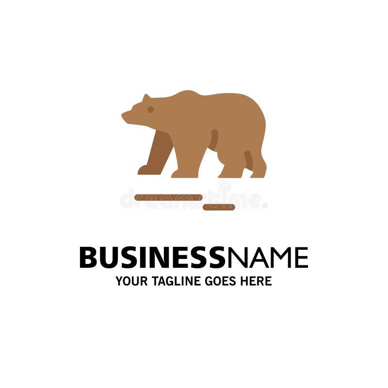 Το ζώο, αντέχει, πολικός, πρότυπο επιχειρησιακών λογότυπων του Καναδά Επίπεδο χρώμα διανυσματική απεικόνιση