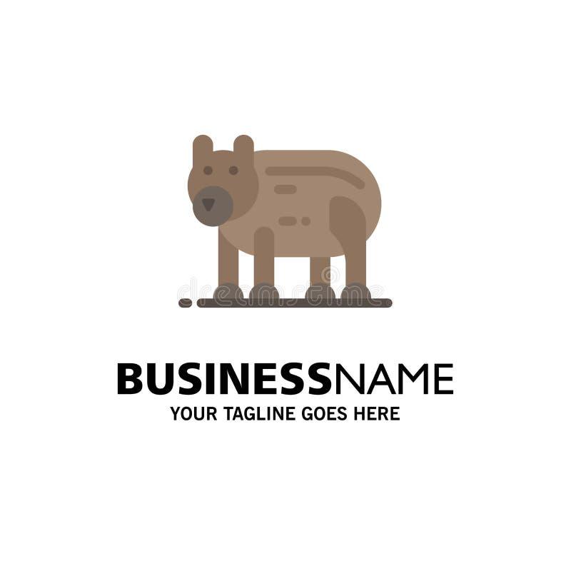 Το ζώο, αντέχει, πολικός, πρότυπο επιχειρησιακών λογότυπων του Καναδά Επίπεδο χρώμα απεικόνιση αποθεμάτων