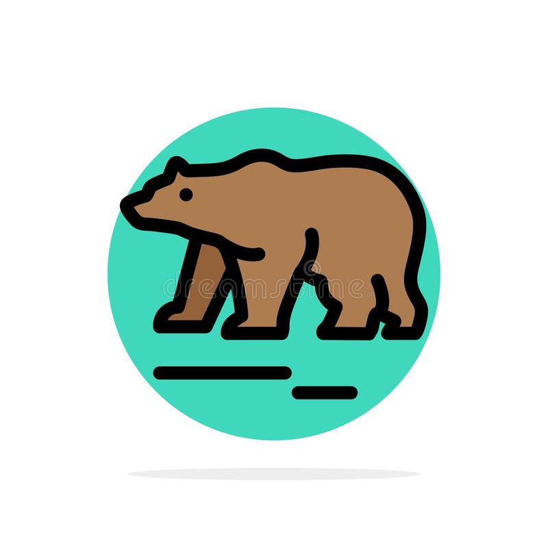 Το ζώο, αντέχει, πολικός, του Καναδά αφηρημένο κύκλων εικονίδιο χρώματος υποβάθρου επίπεδο διανυσματική απεικόνιση