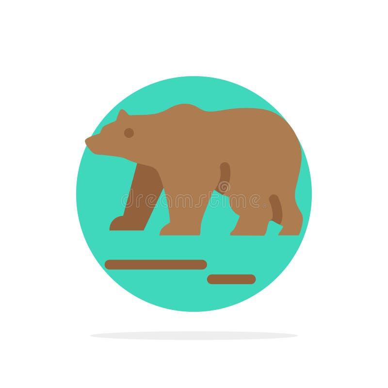 Το ζώο, αντέχει, πολικός, του Καναδά αφηρημένο κύκλων εικονίδιο χρώματος υποβάθρου επίπεδο ελεύθερη απεικόνιση δικαιώματος