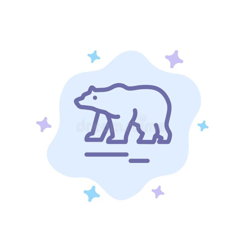 Το ζώο, αφορά, πολικός, μπλε εικονίδιο του Καναδά το αφηρημένο υπόβαθρο σύννεφων διανυσματική απεικόνιση