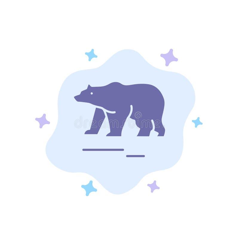 Το ζώο, αφορά, πολικός, μπλε εικονίδιο του Καναδά το αφηρημένο υπόβαθρο σύννεφων ελεύθερη απεικόνιση δικαιώματος