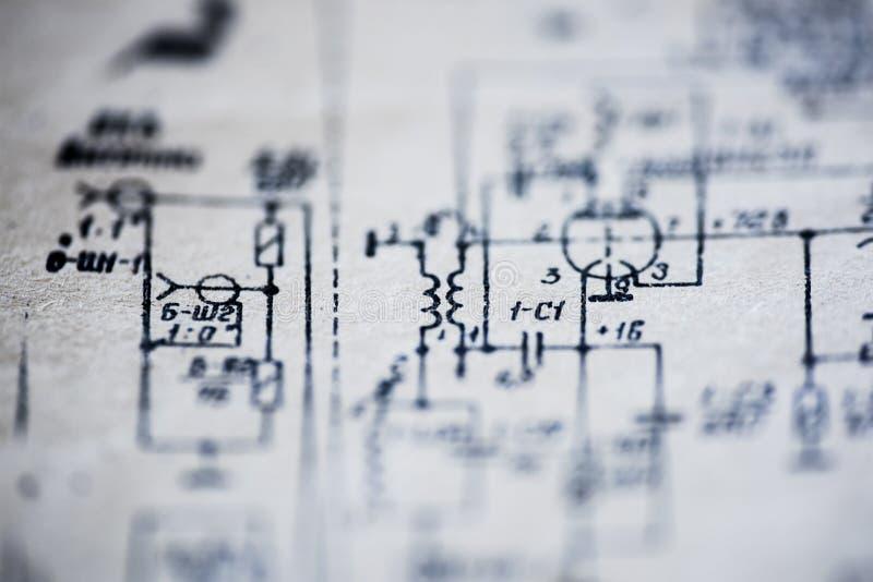 Το ηλεκτρικό σχέδιο της TV στοκ φωτογραφία με δικαίωμα ελεύθερης χρήσης