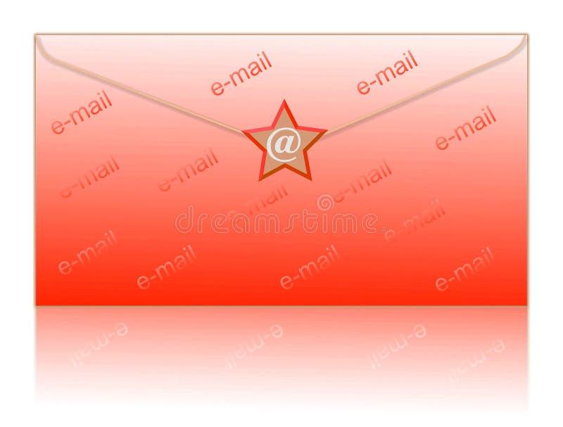 το ηλεκτρονικό ταχυδρομείο τυλίγει το σύμβολο απεικόνιση αποθεμάτων