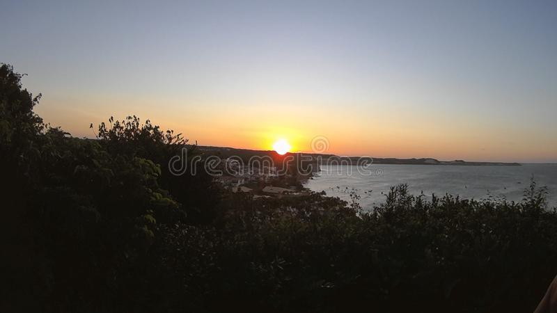 Το ηλιοβασίλεμα στην παραλία Pipa στο Rio Grande κάνει Norte στοκ φωτογραφίες με δικαίωμα ελεύθερης χρήσης