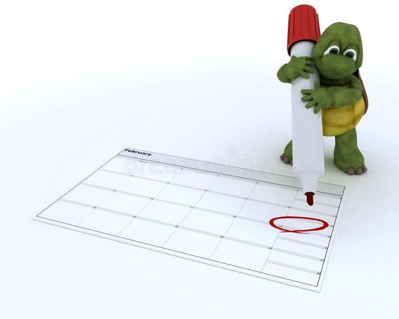 το ημερολόγιο απεικόνιση αποθεμάτων