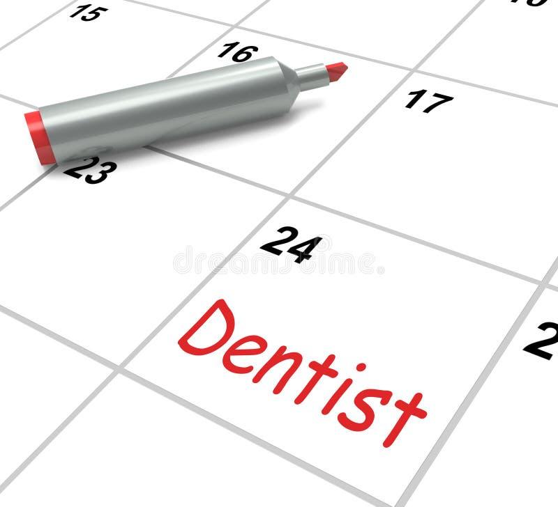 Το ημερολόγιο οδοντιάτρων παρουσιάζει προφορική υγεία και οδοντικός διανυσματική απεικόνιση