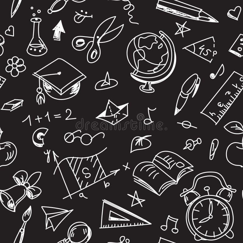 Το δημιουργικό άνευ ραφής σχολικό σχέδιο με καλαφατίζει τα σχέδια στον πίνακα απεικόνιση αποθεμάτων