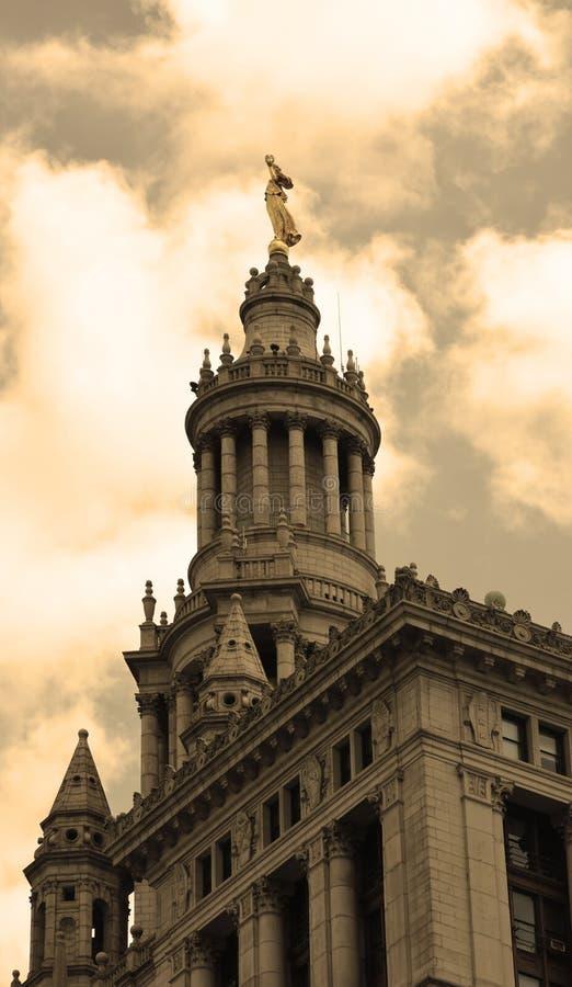 Το δημοτικό κτήριο στην πόλη της Νέας Υόρκης, Νέα Υόρκη στοκ εικόνες
