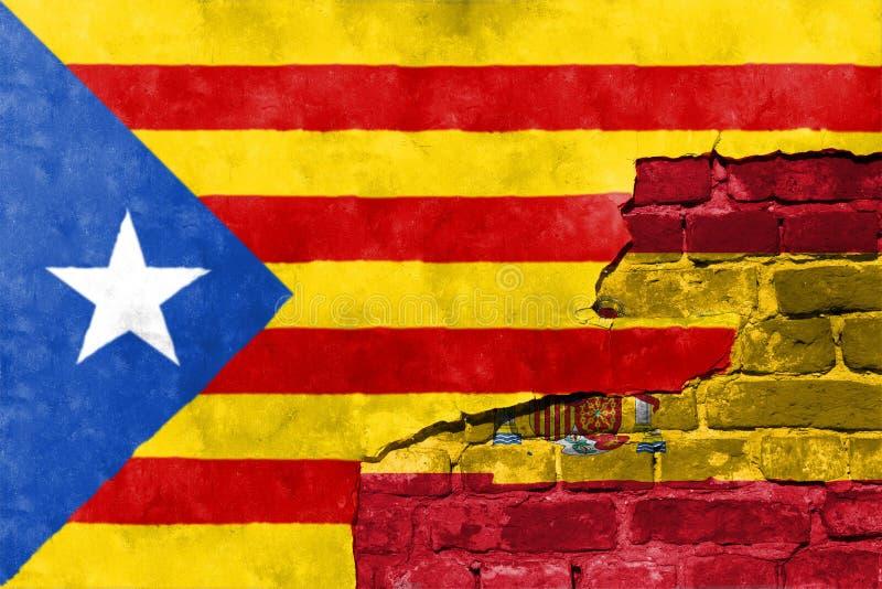 Το δημοψήφισμα ανεξαρτησίας αναμένεται για να κρατηθεί στην Καταλωνία στοκ εικόνες με δικαίωμα ελεύθερης χρήσης