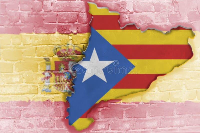 Το δημοψήφισμα ανεξαρτησίας αναμένεται για να κρατηθεί στην Καταλωνία στοκ εικόνα με δικαίωμα ελεύθερης χρήσης