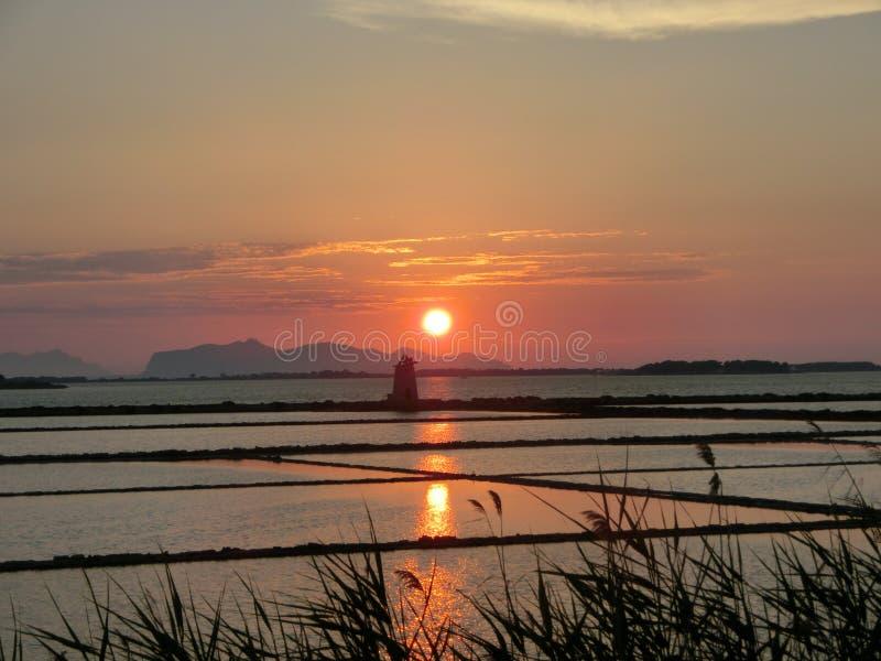 Το ηλιοβασίλεμα Mozia στοκ εικόνες