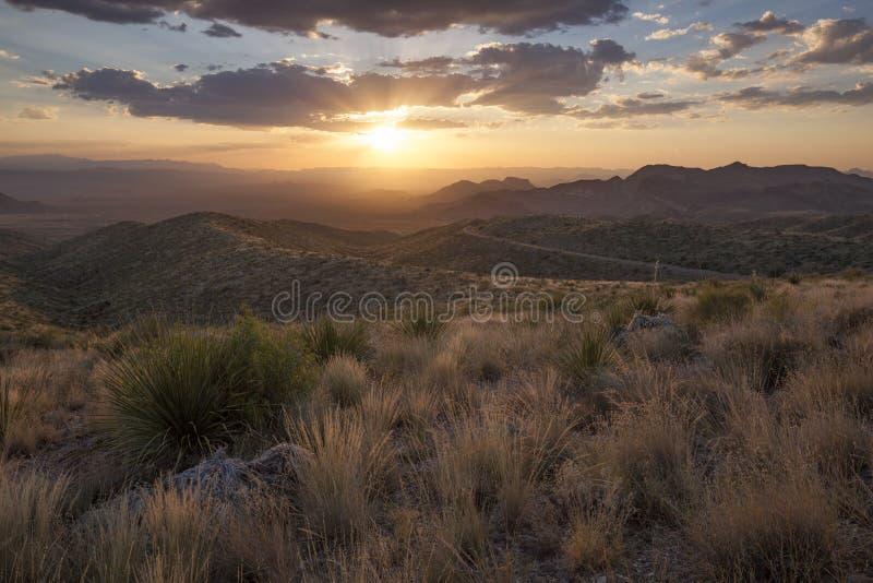 Το ηλιοβασίλεμα Vista Sotol αγνοεί στοκ φωτογραφίες με δικαίωμα ελεύθερης χρήσης