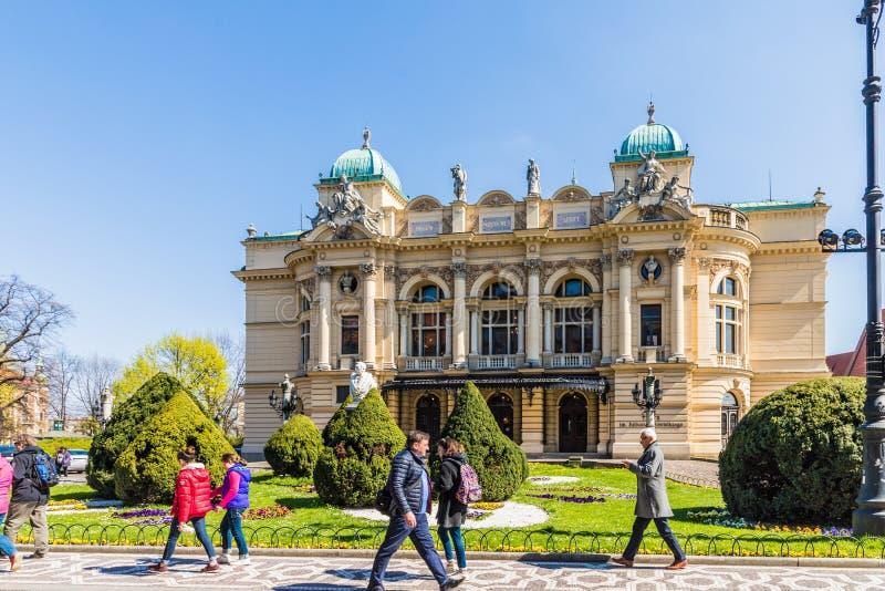 Το θέατρο Juliusz Slowacki στην Κρακοβία στοκ εικόνες με δικαίωμα ελεύθερης χρήσης