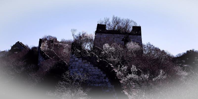Το θαυμάσιο Σινικό Τείχος στοκ εικόνες με δικαίωμα ελεύθερης χρήσης