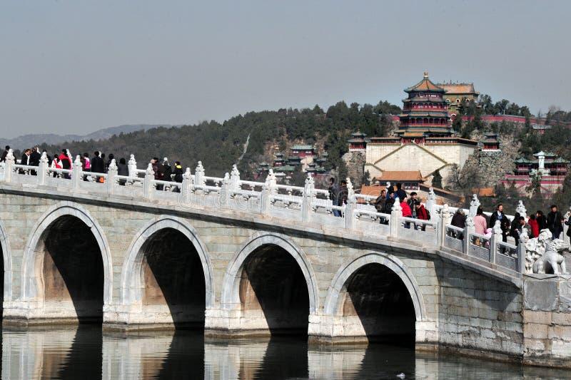 Το θερινό παλάτι στο Πεκίνο Κίνα στοκ εικόνα