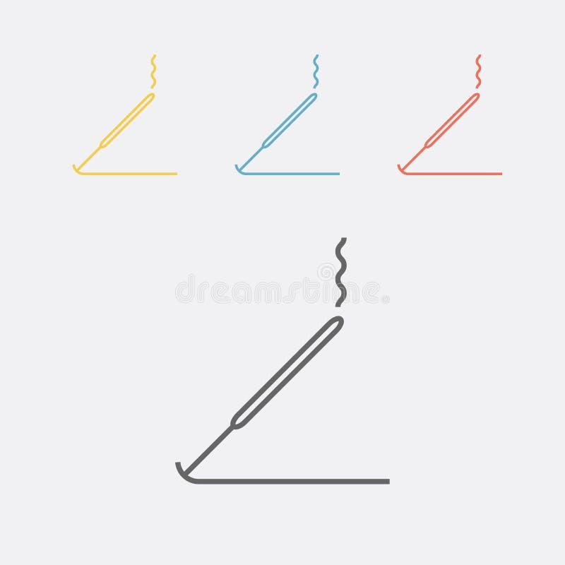 Το θυμίαμα κολλά το εικονίδιο γραμμών επίσης corel σύρετε το διάνυσμα απεικόνισης απεικόνιση αποθεμάτων