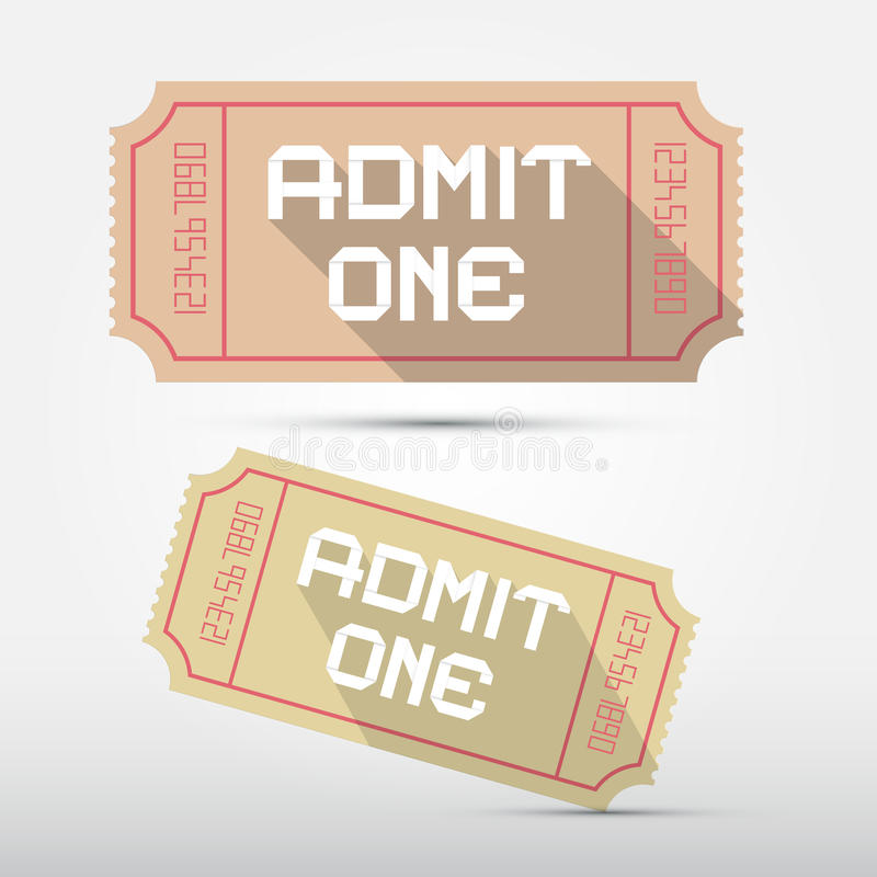 Το διάνυσμα αναγνωρίζει μια απεικόνιση εισιτηρίων διανυσματική απεικόνιση