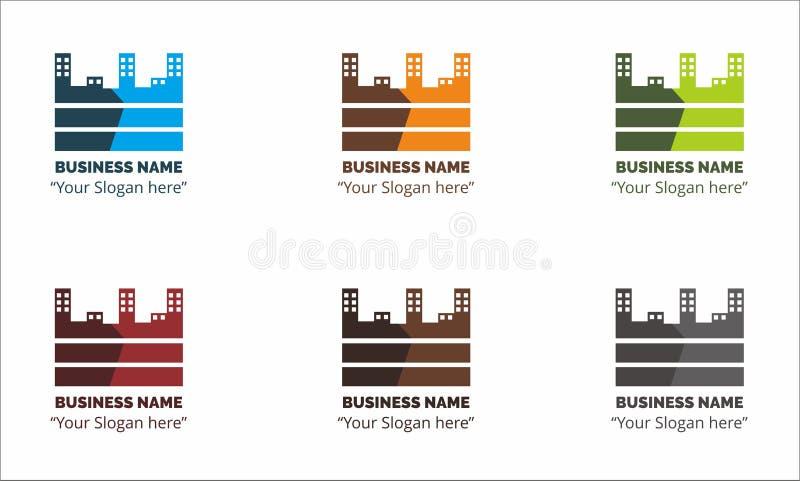 Το διάνυσμα οικοδόμησης επιχειρησιακών λογότυπων διανυσματική απεικόνιση