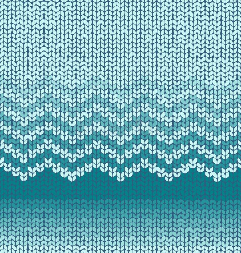 Το διάνυσμα πλέκει το άνευ ραφής σχέδιο διανυσματική απεικόνιση