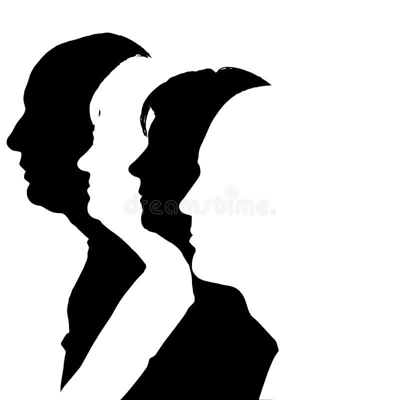 Το διάνυσμα σκιαγραφεί τους ανθρώπους διανυσματική απεικόνιση