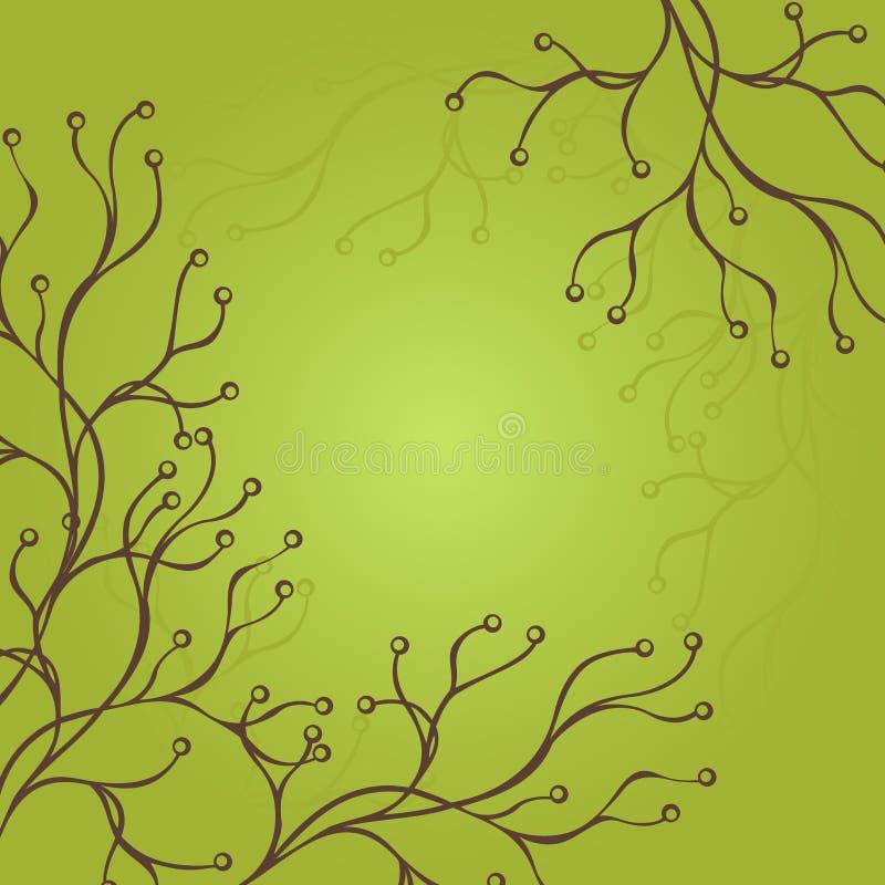 Το διάνυσμα χρωμάτισε το Floral σχεδιάγραμμα. διανυσματική απεικόνιση