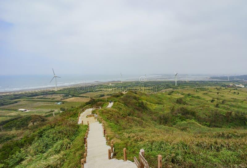Το διάσημο ακρωτήριο Houlung ` s της καλής ελπίδας στη κομητεία Miaoli στοκ εικόνες
