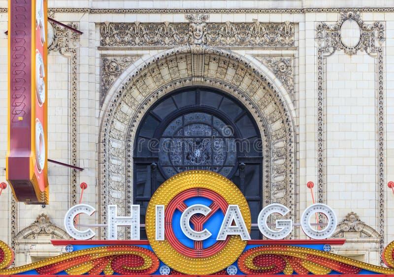 Το διάσημο θέατρο του Σικάγου στην κρατική οδό στοκ εικόνες