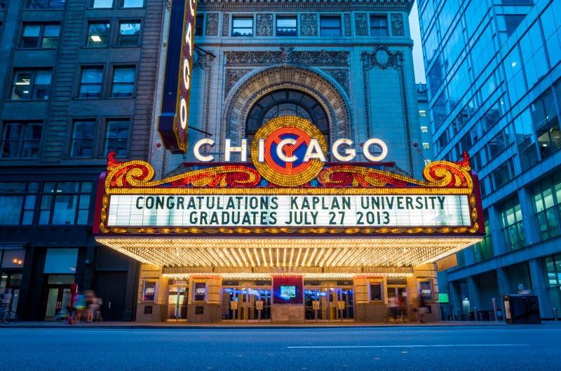 Το διάσημο θέατρο του Σικάγου στοκ εικόνα με δικαίωμα ελεύθερης χρήσης