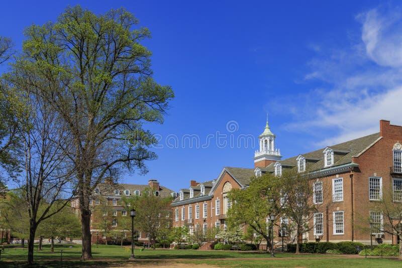 Το διάσημο πανεπιστήμιο Johns Hopkins στοκ εικόνες