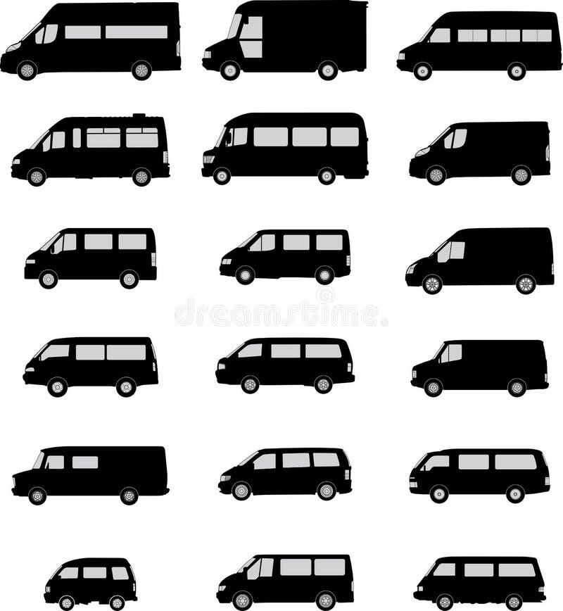 Σκιαγραφίες φορτηγών στοκ φωτογραφίες με δικαίωμα ελεύθερης χρήσης