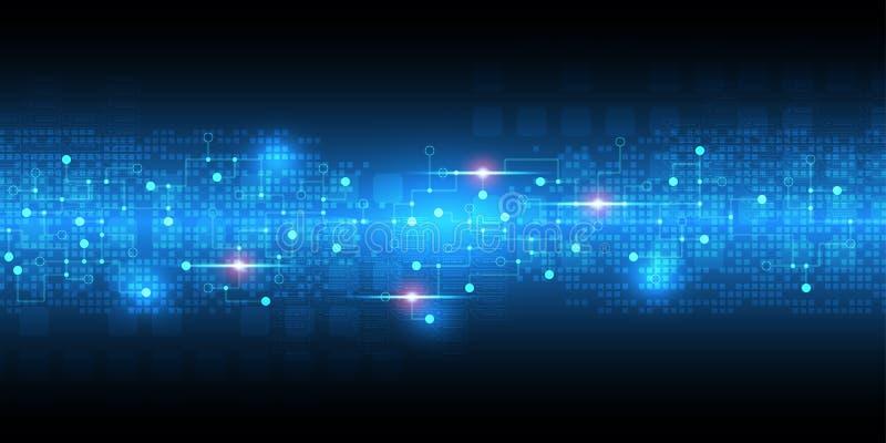 Το διανυσματικό αφηρημένο υπόβαθρο παρουσιάζει την καινοτομία της τεχνολογίας και των εννοιών τεχνολογίας ελεύθερη απεικόνιση δικαιώματος
