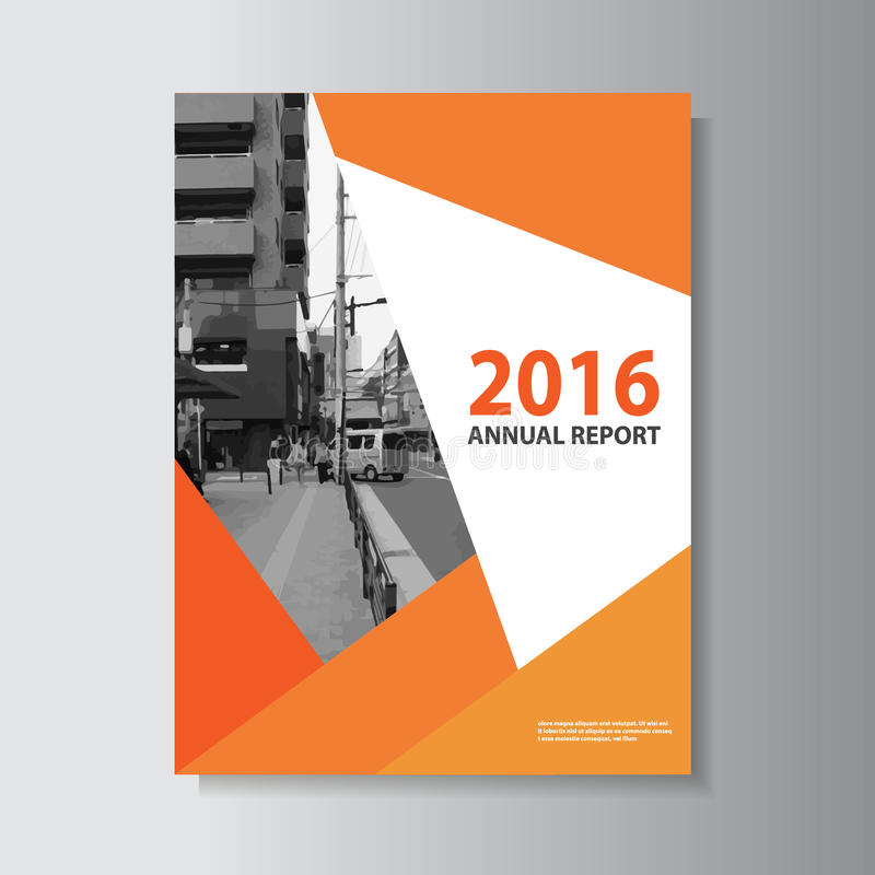 Το διανυσματικό σχέδιο μεγέθους προτύπων ιπτάμενων φυλλάδιων φυλλάδιων a4, σχέδιο σχεδιαγράμματος κάλυψης βιβλίων ετήσια εκθέσεων διανυσματική απεικόνιση
