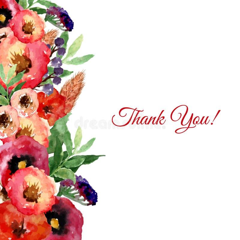Το διανυσματικό floral πλαίσιο watercolor με τον τρύγο φεύγει και ανθίζει Καλλιτεχνικό σχέδιο για τα εμβλήματα, ευχετήριες κάρτες ελεύθερη απεικόνιση δικαιώματος