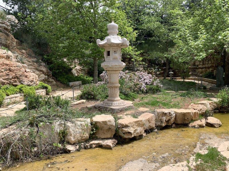 Το ιαπωνικό τμήμα στο Wohl αυξήθηκε πάρκο στην Ιερουσαλήμ στοκ εικόνες με δικαίωμα ελεύθερης χρήσης