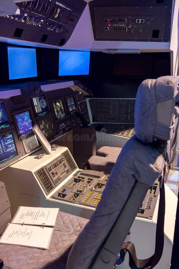 Το διαστημικό λεωφορείο καμπινών στοκ εικόνα