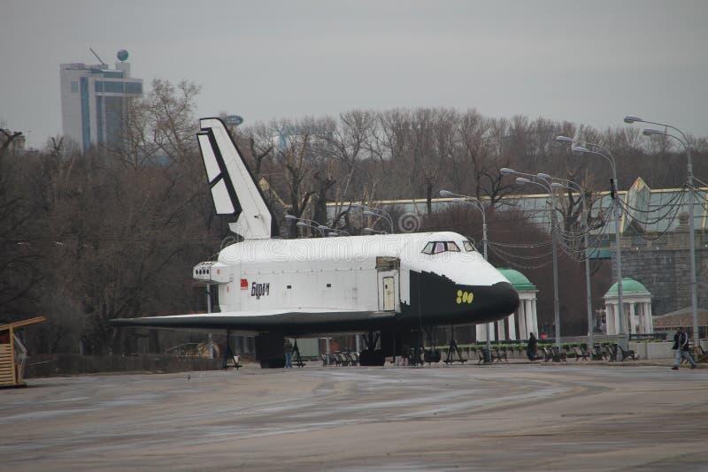Το διαστημόπλοιο διαμορφώνει το διαστημικό σκάφος Buran στοκ εικόνα