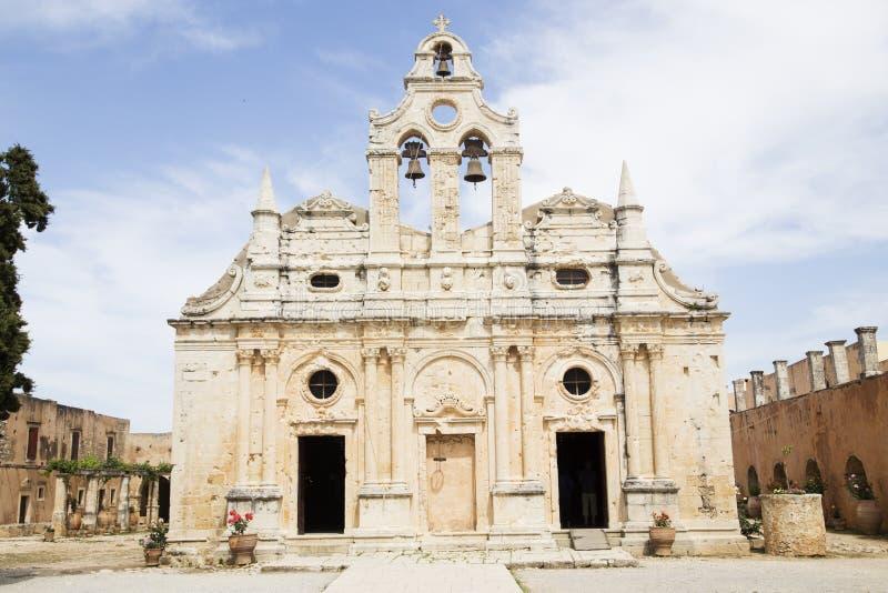 Το ιερό μοναστήρι Arkadi στην Κρήτη στοκ εικόνα