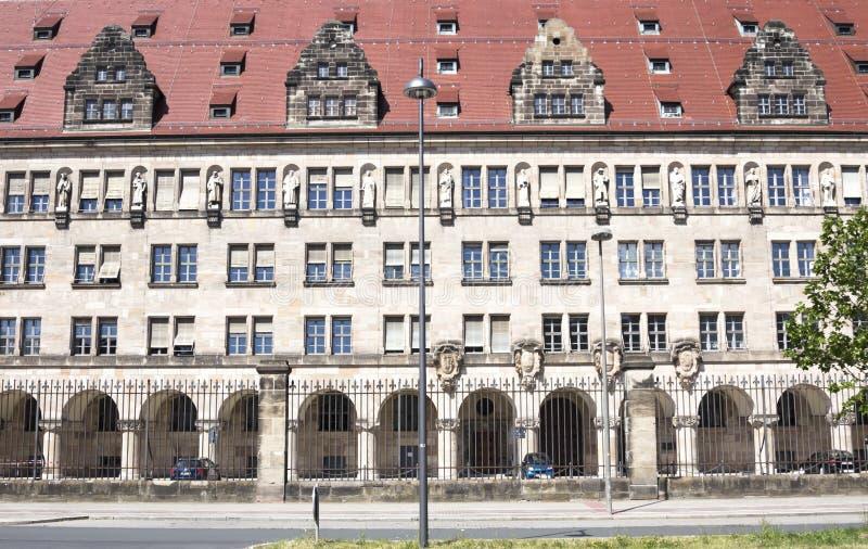 Το δικαστήριο στη Νυρεμβέργη στοκ εικόνες