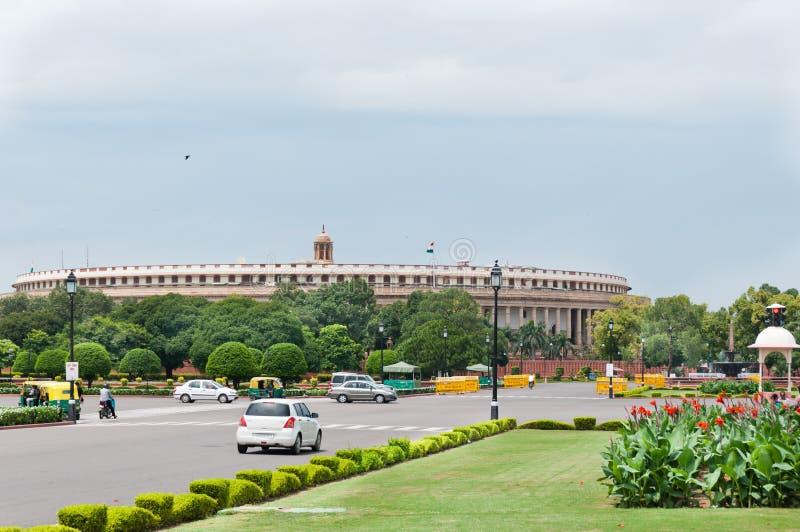 το ινδικό Κοινοβούλιο στοκ εικόνες με δικαίωμα ελεύθερης χρήσης