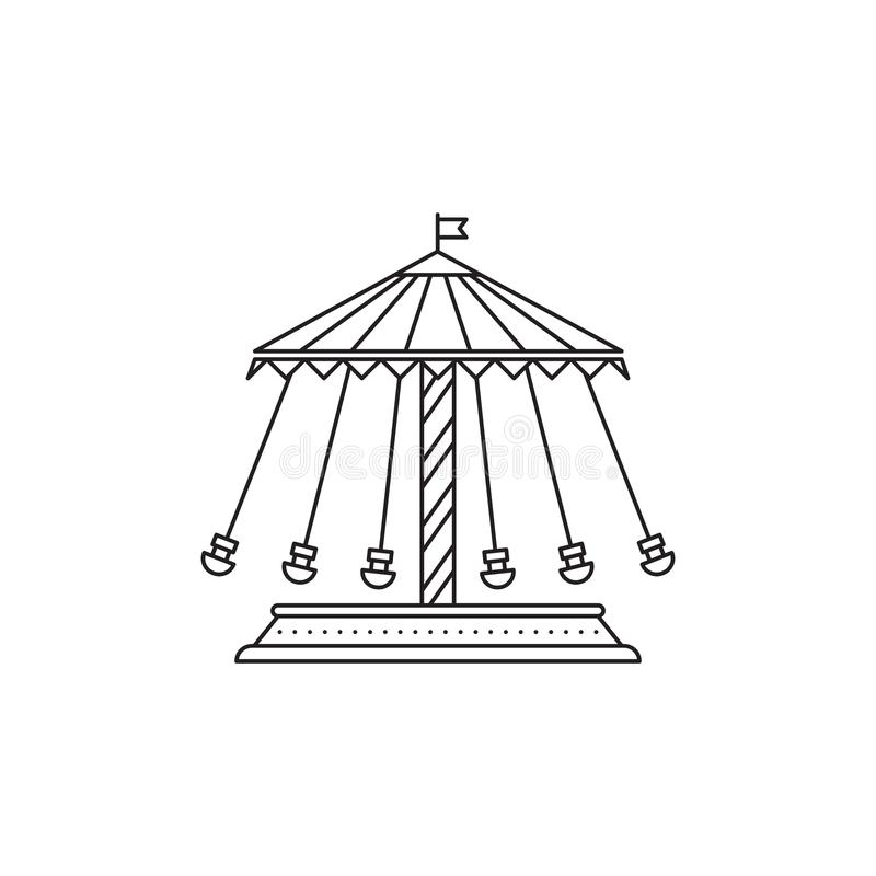 Το ιπποδρόμιο οδηγά το διανυσματικό γραμμικό σχέδιο εικονιδίων που απομονώνεται στο άσπρο υπόβαθρο Πρότυπο λογότυπων πάρκων, στοι διανυσματική απεικόνιση