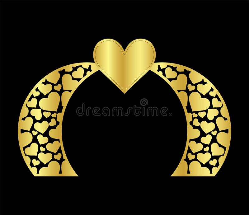 Το ισλαμικό πρότυπο πυλών γαμήλιων αψίδων λέιζερ για την κοπή από το β διανυσματική απεικόνιση