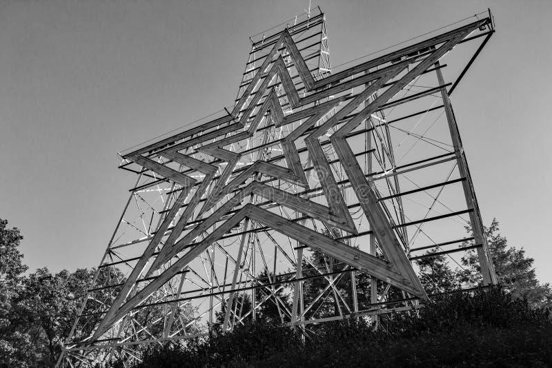 Το ιστορικό αστέρι Roanoke, Roanoke, Βιρτζίνια, ΗΠΑ στοκ φωτογραφίες