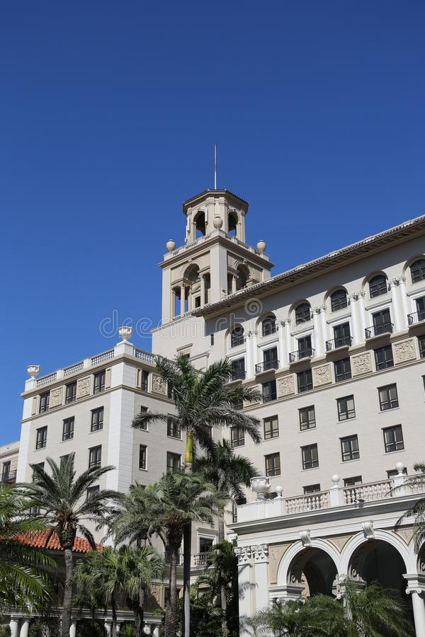Το ιστορικό ξενοδοχείο του Palm Beach διακοπτών στοκ εικόνα
